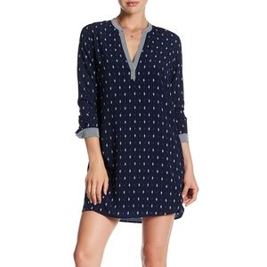 NWT Tart Striped Shirt Dress Navy Ikat sz M